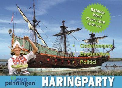 Haringparty Flevoland 2018 op 22 juni op de Bataviawerf
