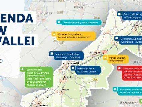 VNO-NCW VeluweVallei bezoekt wethouders Economische Zaken