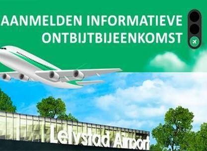 Informatieve ontbijtbijeenkomst voor ondernemers Lelystad Airport