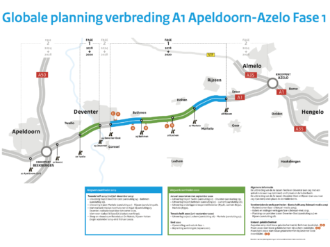 Begin februari 2019 start werkzaamheden verbreding A1 Apeldoorn – Azelo