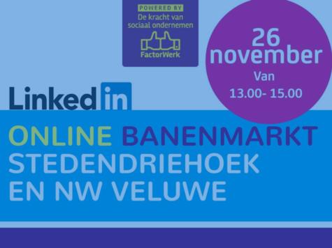 Online banenmarkt op 26 november Stedendriehoek en NW Veluwe